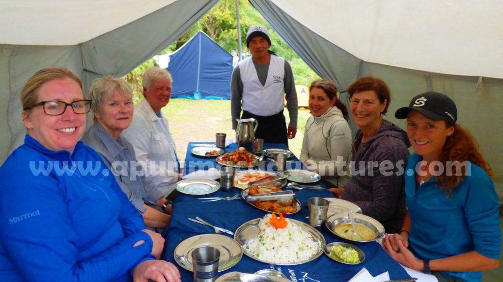 Food on the Trek - Apurimac Adventures